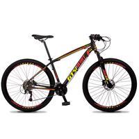 Bicicleta Aro 29 Gt Sprint Volcon 21v Suspensão, Freio Disco - Preto/vermelho E Amarelo - 21''
