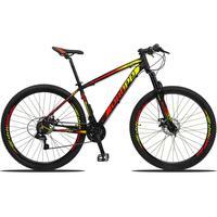 Bicicleta Aro 29 Dropp Z3 21v Shimano, Suspensão Freio Disco - Preto/amarelo E Vermelho - 21''
