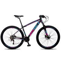 Bicicleta Aro 29 Gt Sprint Volcon 21v Shimano, Freio A Disco - Preto/azul E Rosa - 17''