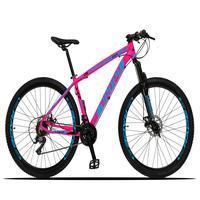 Bicicleta Aro 29 Dropp Z3x 21v Suspensão E Freio Disco - Rosa/azul - 21''