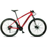 Bicicleta Aro 29 Dropp Tx 24v Acera, Susp E Freio Hidraulico - Vermelho/preto - 17''