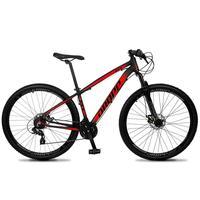 Bicicleta Aro 29 Dropp Z4x 24v Suspensão E Freio A Disco - Preto/vermelho - 15''