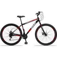 Bicicleta Aro 29 Gt Sprint Mx1. 21v Garfo Rigido Freio Disco - Preto/vermelho E Branco - 17´´ - 17´´