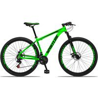 Bicicleta Aro 29 Spaceline Orion 21v Suspensão Freio A Disco - Verde/preto - 17''