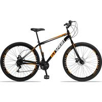 Bicicleta Aro 29 Gt Sprint Mx1. 21v Garfo Rigido Freio Disco - Preto/laranja E Branco - 19