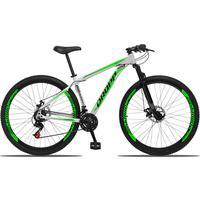 Bicicleta Aro 29 Dropp Aluminum 21v Suspensão, Freio A Disco - Branco/verde E Preto - 19