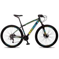 Bicicleta Aro 29 Gt Sprint Volcon 21v Suspensão, Freio Disco - Preto/azul E Amarelo - 17´´ - 17´´