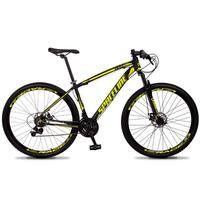 Bicicleta Aro 29 Spaceline Vega 21v Shimano E Freio A Disco - Preto/amarelo - 17''