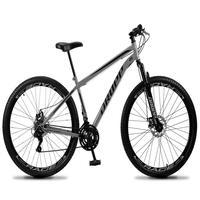 Bicicleta Aro 29 Dropp Sport 21v Suspensão E Freio A Disco - Cinza/preto - 17