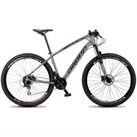 Bicicleta Aro 29 Dropp Tx 24v Acera, Susp E Freio Hidraulico - Cinza/preto - 19