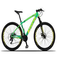 Bicicleta Aro 29 Dropp Z3x 21v Suspensão E Freio Disco - Verde/amarelo - 15