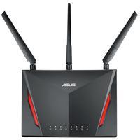 Roteador Gamer Wireless Asus Rt-ac86u Dual Band 3 Antenas 2900 Mbps Preto