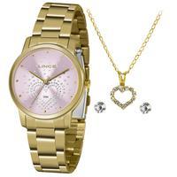 Relógio Lince Feminino Dourado Lrgj129l Ky98r1kx Semi Jioa