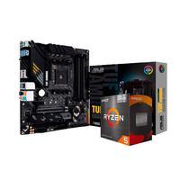 Kit Upgrade 2 em 1, Placa Mãe Asus TUF Gaming B550M-Plus AM4 + AMD Ryzen 5 5600G