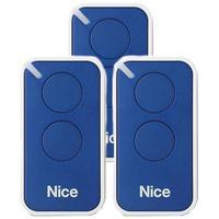 Kit 3 Controle Remoto 433,92 Mhz Rolling Code 2 Botões Era Inti Azul Linear Hcs - Nice