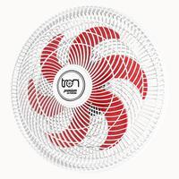 Ventilador Maggie Parede Branco Oscilante 127v Pás Vermelho