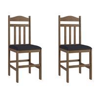 Conjunto 2 Cadeiras de Madeira Móveis Canção