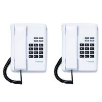 Kit 02 Telefones Com Fio Tc 50 Premium Branco Intelbras