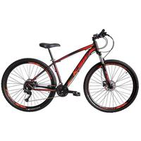 """Bicicleta Aro 29 Ksw 21 Marchas, Freio Hidráulico E Trava, Cor: preto/laranja E Vermelho, Tamanho Do Quadro:19"""""""