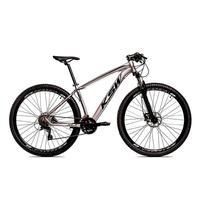 Bicicleta Aro 29 Ksw 24 Marchas Freio Hidraulico, Trava E K7 Cor:grafite/preto tamanho Do Quadro: 19pol - 19pol