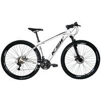 """Bicicleta Aro 29 Ksw 21 Marchas, Freios A Disco E Suspensão, Cor: branco/preto, Tamanho Do Quadro: 21"""""""
