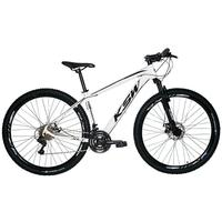 """Bicicleta Aro 29 Ksw 24 Marchas Freios A Disco C/trava E K7 Cor:branco/pretotamanho Do Quadro:17"""" - 17"""""""