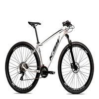 Bicicleta Aro 29 Ksw 24 Marchas Freio Hidráulico E Trava Cor:branco/preto tamanho Do Quadro: 21pol - 21pol