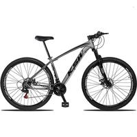 "Bicicleta Aro 29 Ksw 21 Marchas Freios A Disco E Trava Cor: Frafite/preto Tamanho Do Quadro:21"" - 21"""