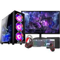 "PC Gamer Completo Fácil Intel I5 10400F, 8GB, GTX 750TI 4GB, SSD 240GB, Monitor 21"", Fonte 500W"