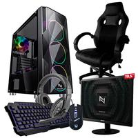 Pc Gamer Completo Start Nli82935 Amd 320ge 8gb vega 3 Integrado Ssd 120gb + Cadeira Gamer