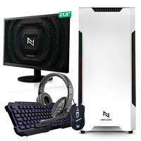 Kit - Pc Gamer Start Nli82920 Amd 320ge 16gb vega 3 Integrado Ssd 120gb + Monitor 21.5