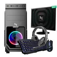Kit - Pc Gamer Start Nli82875 Amd 320ge 8gb vega 3 Integrado Ssd 120gb + Monitor 19.5