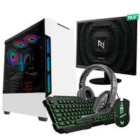 Kit - Pc Gamer Start Nli82893 Amd 320ge 8gb vega 3 Integrado Ssd 120gb + Monitor 19,5