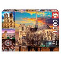 Puzzle 1000 Peças Colagem De Notre Dame - Educa - Importado